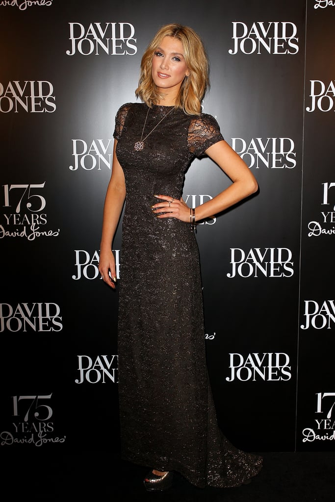 What a glamour! Delta Goodrem hit Sydney's iconic David Jones flagship to help celebrate the department store's 175th birthday in May 2013.