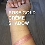 This is her rose gold shade.