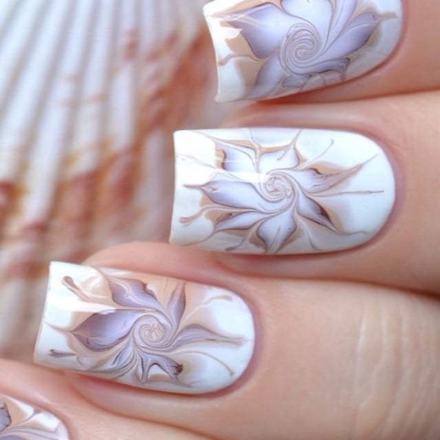 Marble Nail Art Tutorials From Instagram Popsugar Beauty