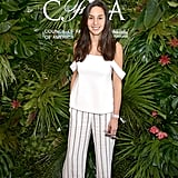 POPSUGAR Style director Dana Avidan Cohn wore breezy pants and a cold-shoulder top to the POPSUGAR x CFDA brunch.