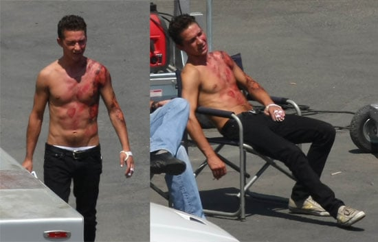 Photos of Shirtless Shia LaBeouf Bloody On Transformers 2 Set