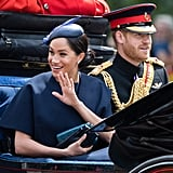 Meghan Markle's Sleek Side Chignon at Trooping the Colour 2019