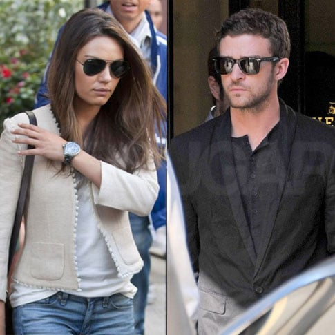 Justin Timberlake and Mila Kunis Shopping in Paris Pictures