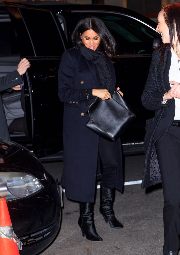 Meghan Markle Wears Black Boots in New York City Feb  2019