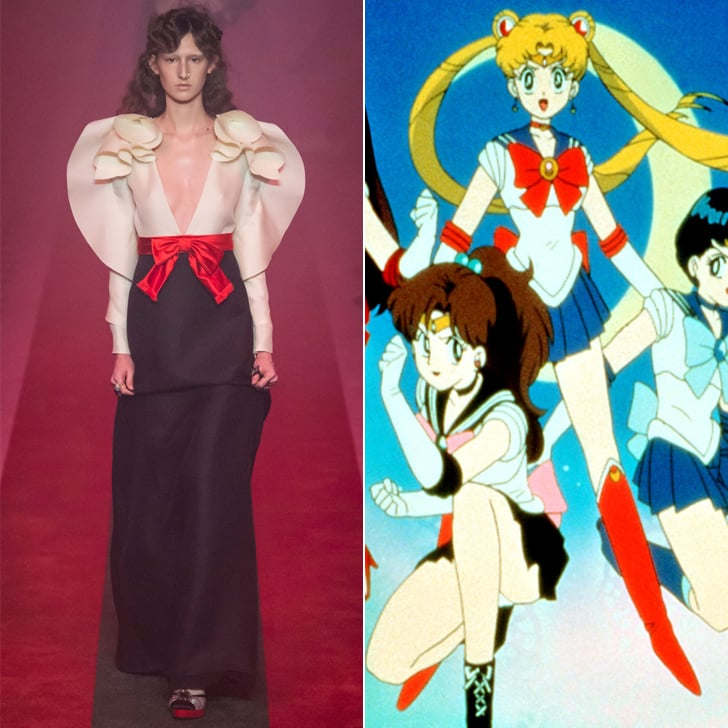 Gucci Dress That Looks Like Sailor Moon Spring 2017
