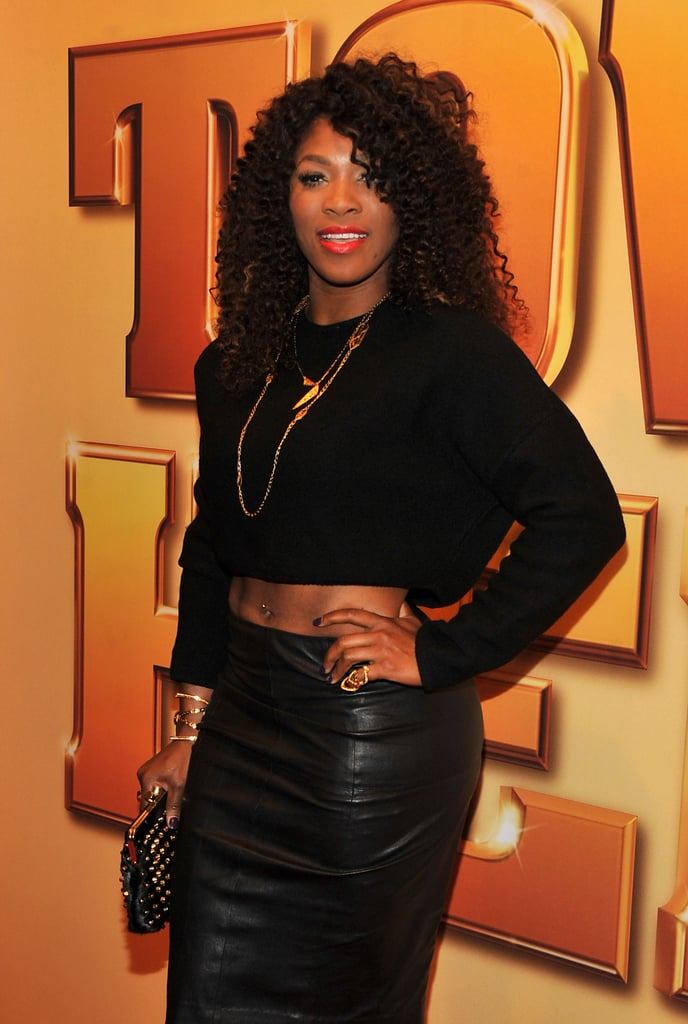 Serena Williams wore an ab bearing top to the Tower Heist premiere.