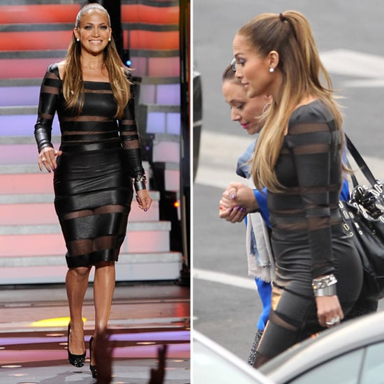 Jennifer Lopez Wows in a Sexy, See-Through LBD on American Idol