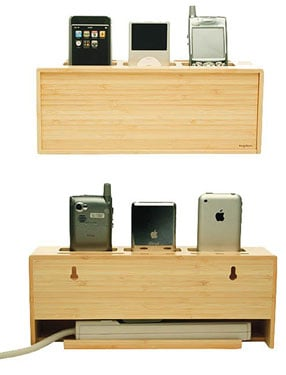 Bamboo Charging Station Lets You Juice Your Gadgets While Being Eco Friendly