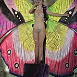 Katy Perry performed in a butterfly costume at the MuchMusic Video Awards in Toronto.