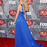 Kristin Chenoweth showed off the back of her dress.