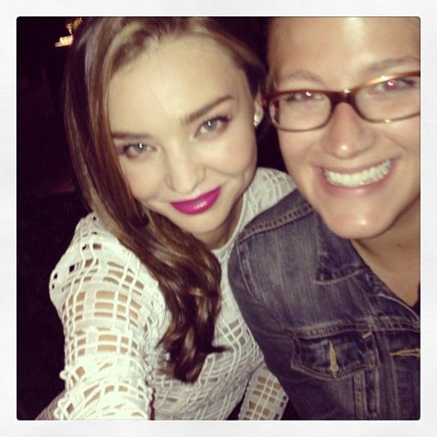 Miranda Kerr snapped a selfie with a friend. Source: Instagram user mirandakerr