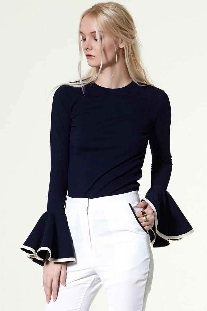 Gwen Wide Cuff Knit Top ($58)