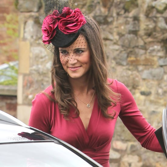 Pippa Middleton Red Dress Friend's Wedding Pictures