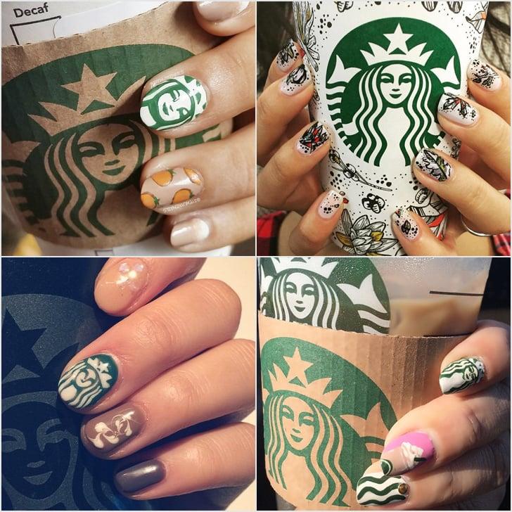 Starbucks Nail Art Ideas
