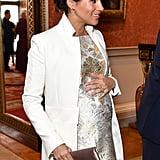 Meghan Markle's Metallic Brocade Dress March 2019