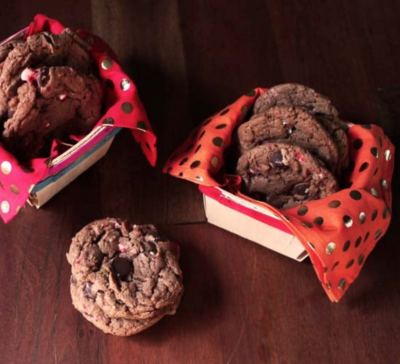 Chocolate Chip Nutella Candy Cane Cookies