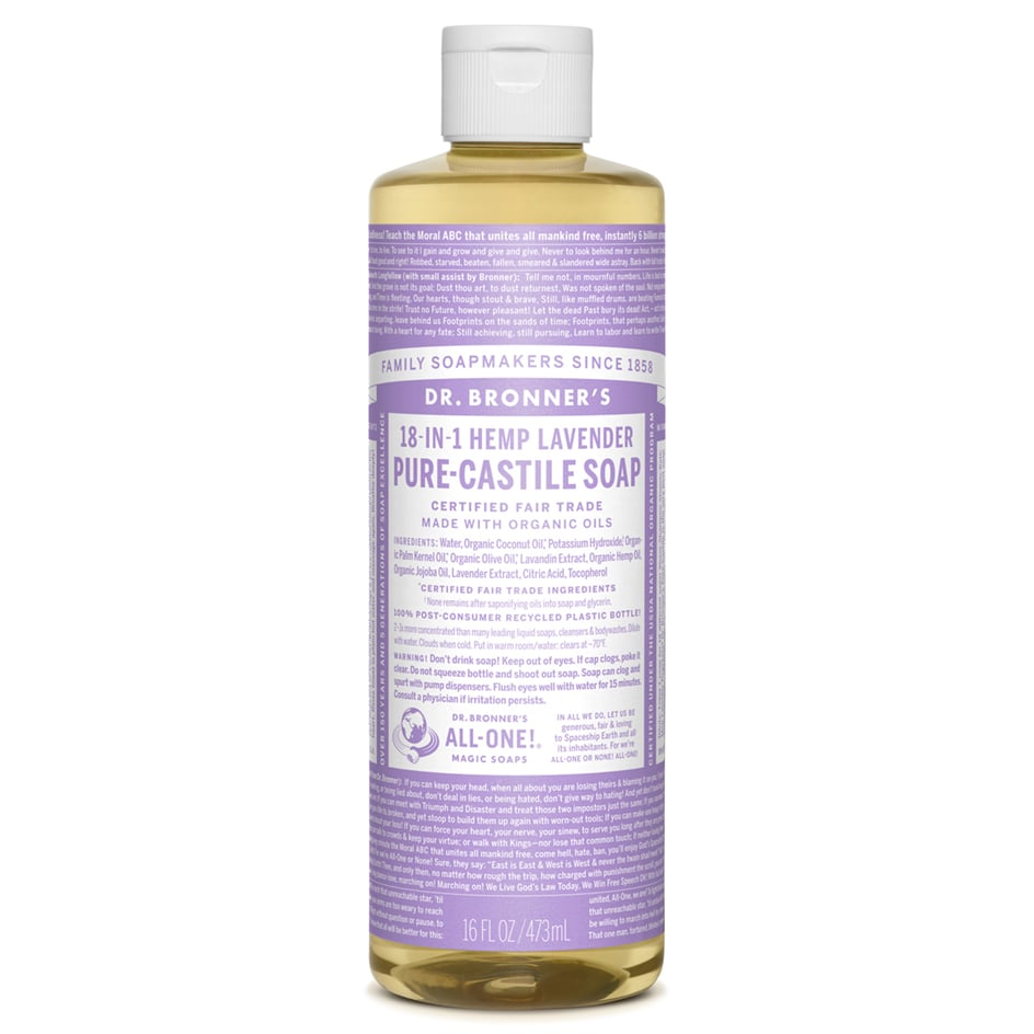 Dr. Bronner's Pure Castile Soap Lavender  ($11) EWG Rating: 1 A shower gel that you can use as a shaving cream replacement, too.