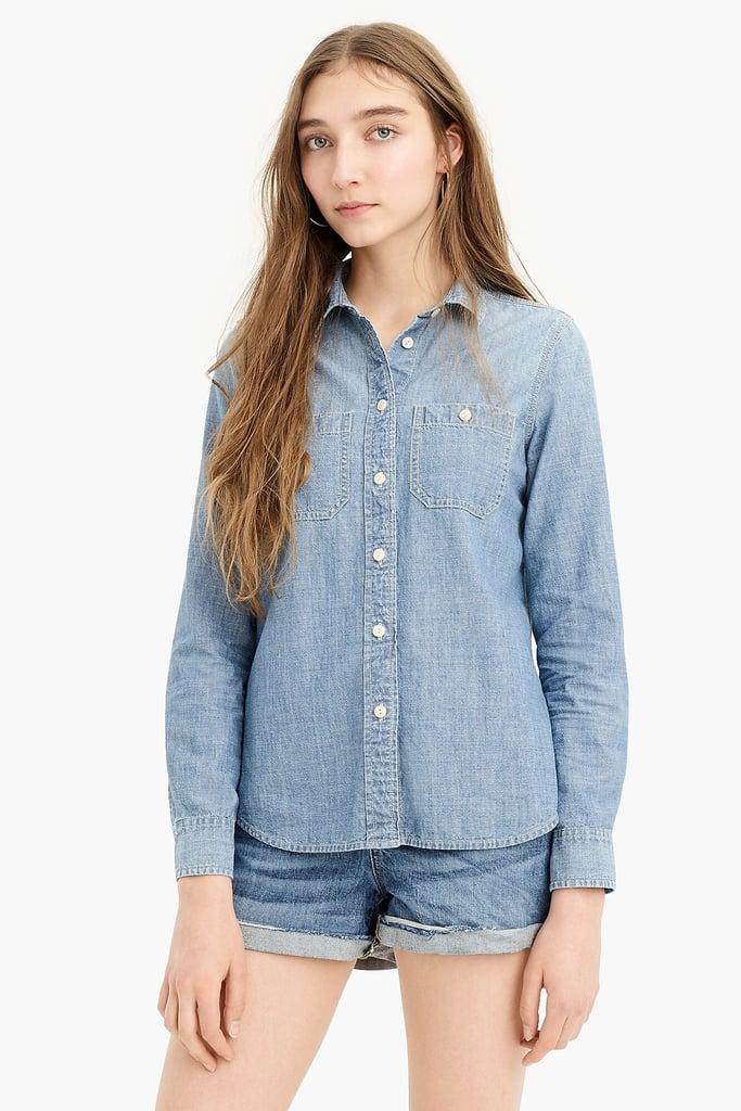 J.Crew Button-Up Shirt in Japanese Denim