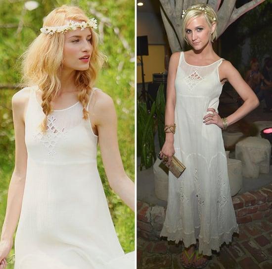 Ashlee Simpson Wearing White Crochet Maxi Dress | POPSUGAR Fashion