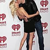 In September 2014, Chris Pratt  leaned Anna Faris back for a romantic red carpet moment at the iHeartRadio Music Festival in Las Vegas.