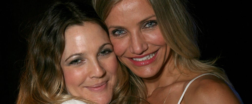 Drew Barrymore and Cameron Diaz Face Mask Instagram Photo