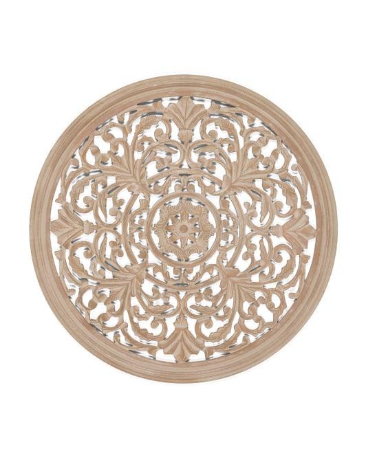 Baylor Carved Wood Medallion