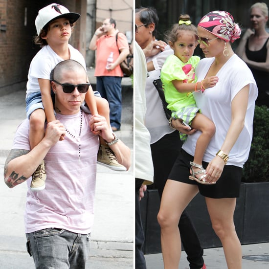 Jennifer Lopez and Casper Smart Take a Stroll With Max and Emme