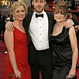 When he was first nominated for best actor in 2007, he brought along his mom Donna and his sister for the Oscars.