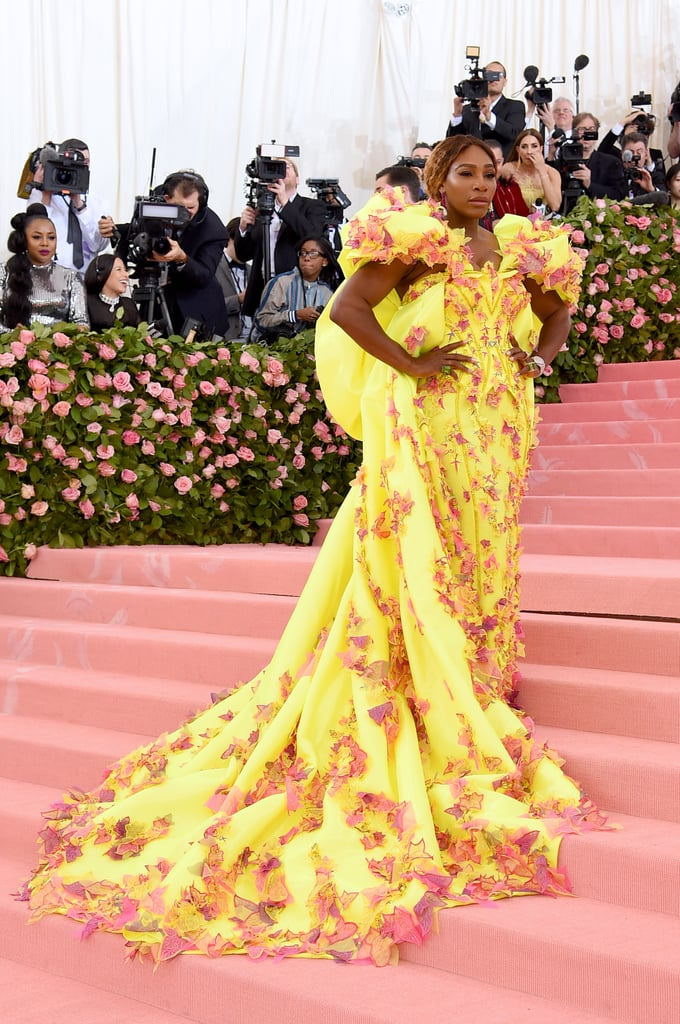 "Serena Williams Looks So Radiant at the Met Gala, We're Calling Her ""Sun-rena"" From Now On"