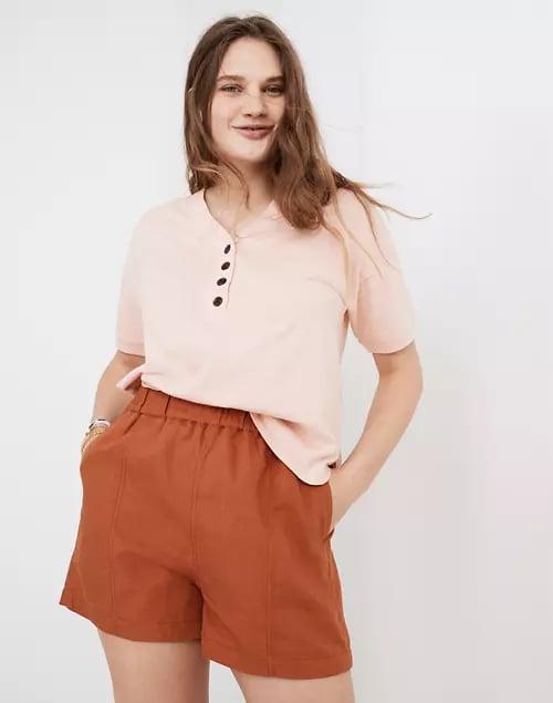 Madewell Linen-Blend Easy Pull-On Shorts