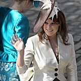 Princess Eugenie attends Zara and Mike's wedding.