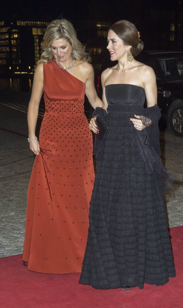 Big O Auto >> Princess Mary and Queen Maxima in Black and Red Dresses | POPSUGAR Celebrity Australia Photo 6