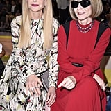 Nicole Kidman and Anna Wintour at the Prada Milan Fashion Week Show