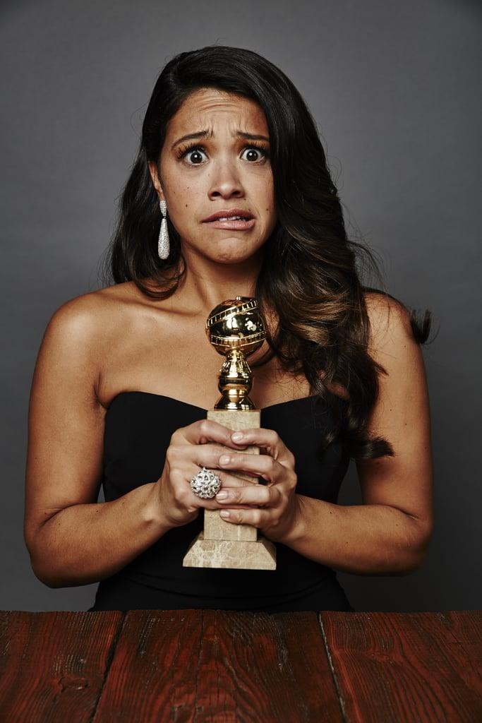 Gina Rodriguez's 2015 Golden Globes Night
