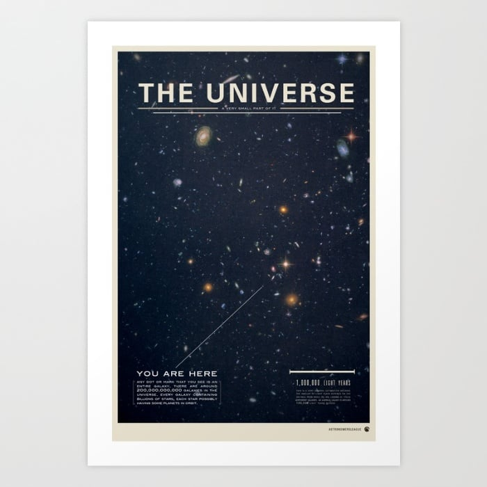 You Are Here Space Print