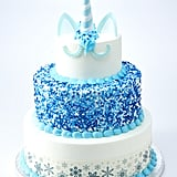 The Three-Tier Winter-Themed Unicorn Cake