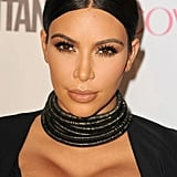 Kim showed lots of cleavage at Cosmo's 50th birthday celebration in October 2015.