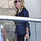 Kirsten Dunst got ready to fly to France.