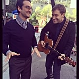 Mark Duplass, who plays Brendan, rocked a guitar. Source: Instagram user mindykaling
