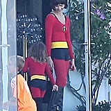 How sweet is this? Jessica Alba, pictured here with Honor, made Halloween a family sport by dressing up as The Incredibles.