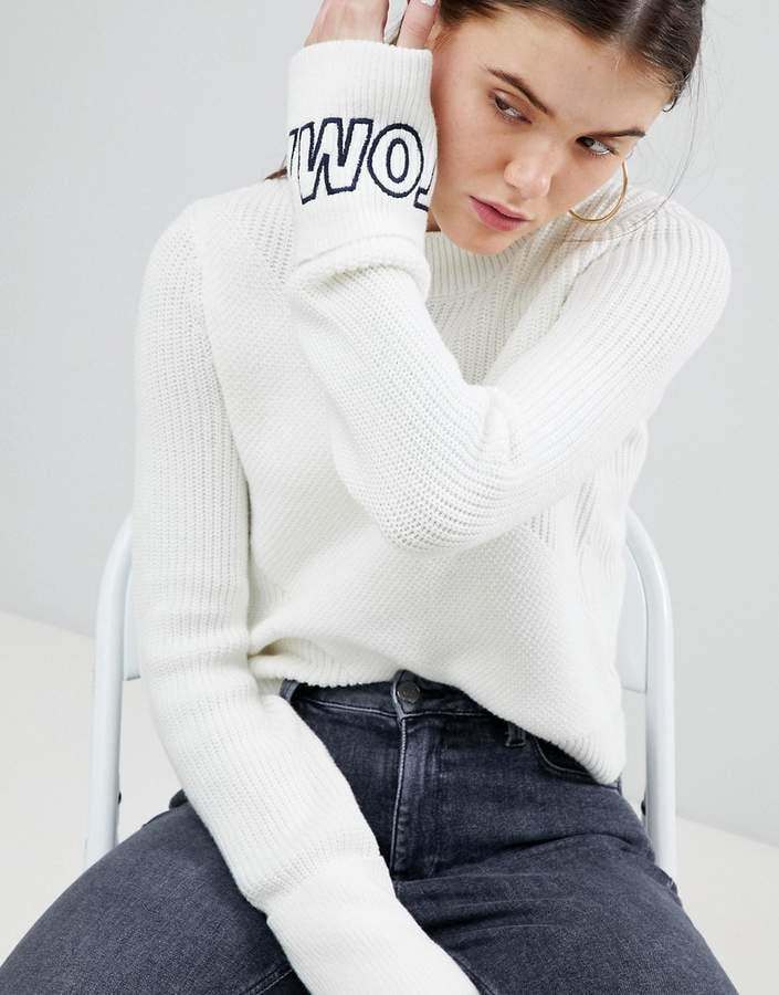 ffad8abadca Tommy Jeans Knit Sweater With Logo Sleeve | Gigi Hadid Wearing Top ...