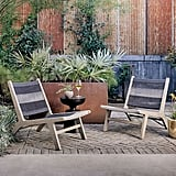 Wood and Rope Outdoor Lounge Chair