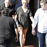 Britney Spears left the hotel in LA where she had a photo shoot.