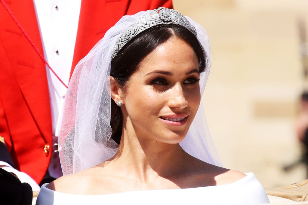 meghan markles royal wedding messy bun 2018 popsugar