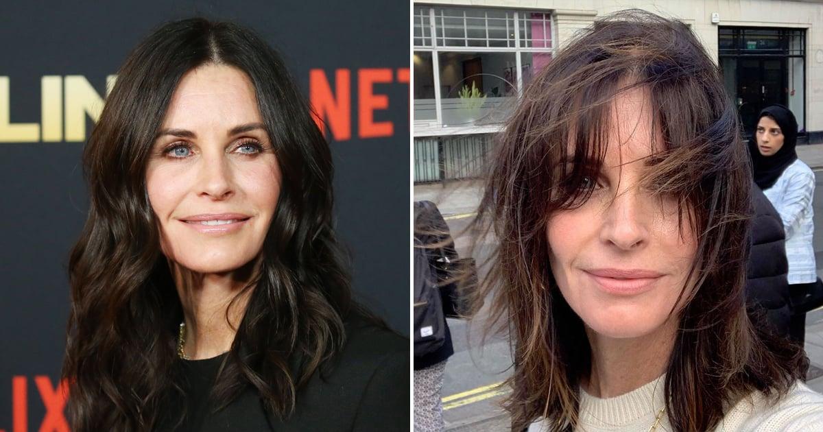 Courteney Cox Got A Lob Haircut With Bangs For Fall Popsugar Beauty