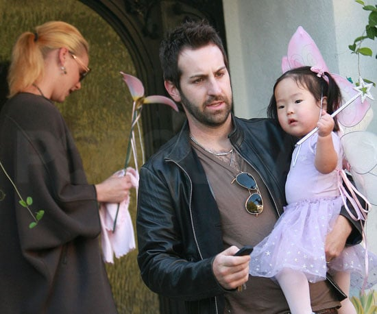 Slide Picture of Katherine Heigl and Daughter Dressed Up For Halloween