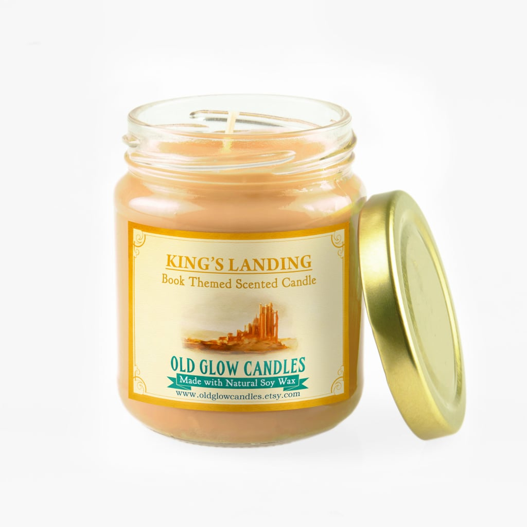 King's Landing candle ($15) with Blackwater Bay breeze, Lannister gardens flowers, and a hint of oak wood notes