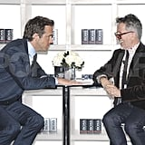 Ryan Reynolds joked with Simon Doonan in NYC.