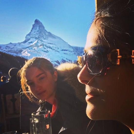 Salma Hayek's Family Vacation in Switzerland December 2016