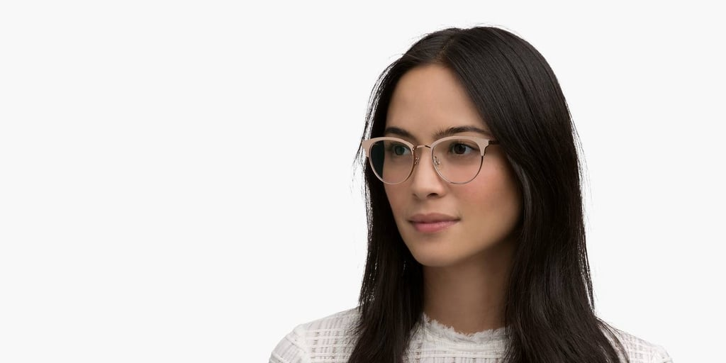 Warby Parker Blair Eyeglasses in Rose Gold